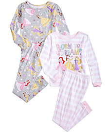 Disney Toddler & Little Girls 4-Pc. Princesses Pajama Set
