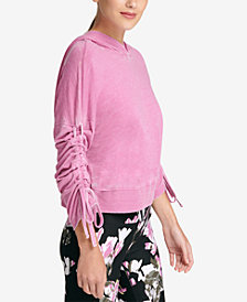 DKNY Sport Relaxed Cinch-Sleeve Hoodie