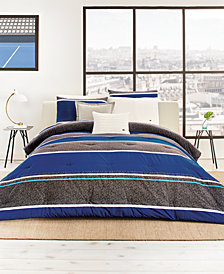 Lacoste Mendi Reversible 190-Thread Count 3-Pc. King Comforter Set, Created for Macy's