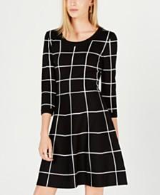 Sequin Hearts Juniors' Printed Sweater Dress