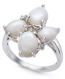Opal (2-3/8 ct. t.w.) & Diamond Accent Ring in Sterling Silver