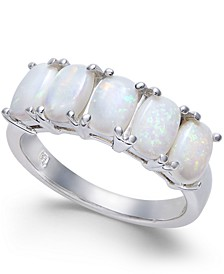 Opal Five Stone Ring (1-3/4 ct. t.w.) in Sterling Silver