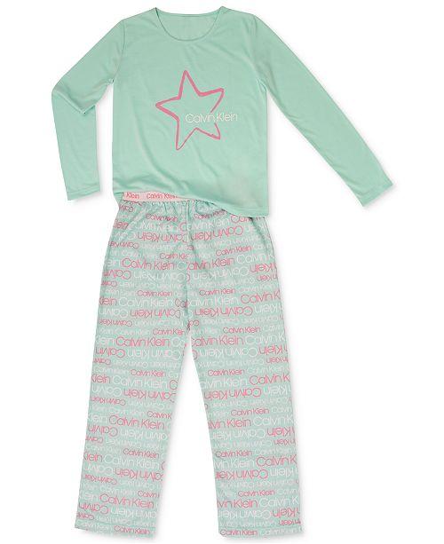 3bb87407eb50d Calvin Klein Big Girls 2-Pc. Terry Pajamas Set   Reviews - Pajamas ...
