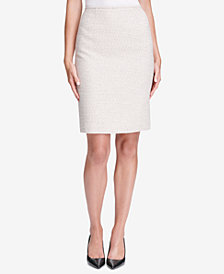 Calvin Klein Petite Tweed Skirt