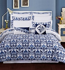 Catalina 12-Pc. Cotton Queen Comforter Set