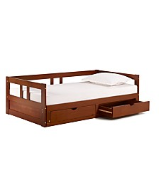 Alaterre Furniture Melody Twin to King Trundle Daybed with Storage Drawers