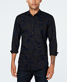 I.N.C. Men's Velvet Paisley Shirt, Created for Macy's