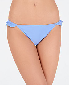 California Waves Solid Ruffle Side Hipster Bottoms, Created for Macy's
