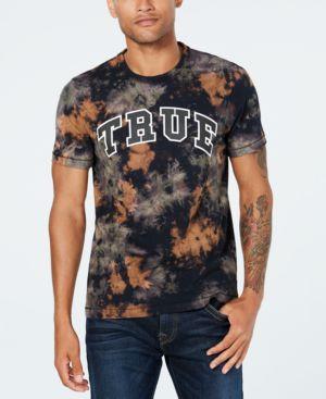 TRUE RELIGION Men'S Logo-Graphic Tie-Dye T-Shirt in Militant Green Tye Dye