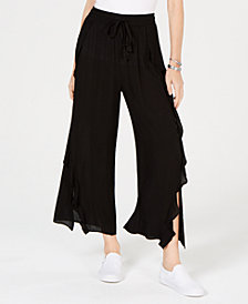 American Rag Juniors' Ruffled Wide-Leg Pants, Created for Macy's
