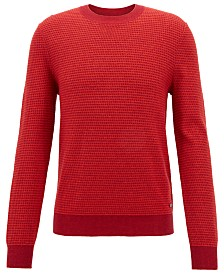 BOSS Men's Lightweight Textured Sweater