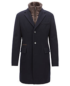 BOSS Men's Slim-Fit Two-Layer Coat