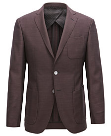 BOSS Men's Extra-Slim-Fit Virgin Wool Jacket