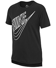 Nike Big Girls Futura-Print Cotton T-Shirt