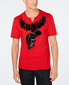 INC Men's Skull Eagle Reversible Sequin Graphic T-Shirt, Created for Macy's