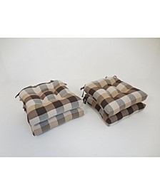 Buffalo Check Set of Four Chair Pad Seat Cushions