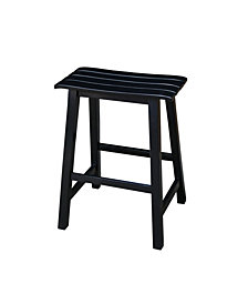 "Slat Seat Stool - 24"" Seat Height"