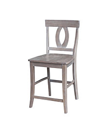 "Cosmo Counterheight Stool - 24""Seat Height - Washed Finish"