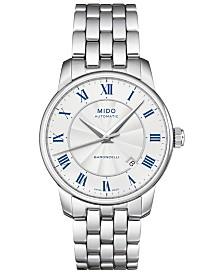 Mido Men's Swiss Automatic Baroncelli Stainless Steel Bracelet Watch 38mm