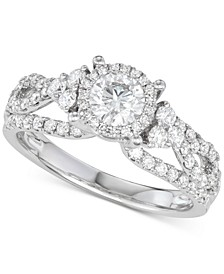 Diamond Weave Engagement Ring (1-1/3 ct. t.w.) in 14k White Gold