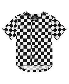 Jaywalker Big Boys Check-Print Cotton Baseball Jersey