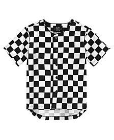 Jaywalker Big Boys Check-Print Cotton Baseball Jersey