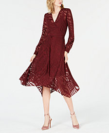 Bar III Burnout Wrap Dress, Created for Macy's