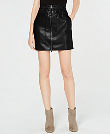French Connection Brishen Faux-Leather Skirt