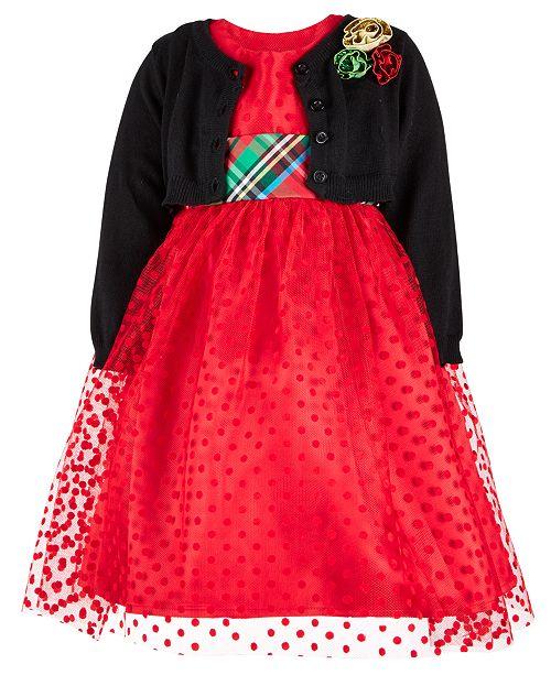 8100cef47 Blueberi Boulevard Toddler Girls 2-Pc. Dress   Cardigan Set ...