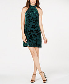 Trina Turk Velvet Burnout Spree Dress