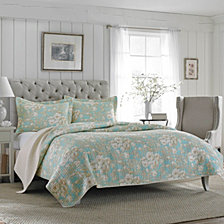 Laura Ashley Full/Queen Brompton Serene Quilt Set
