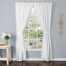 Laura Ashley Annabella White Rod Pocket Window Panels