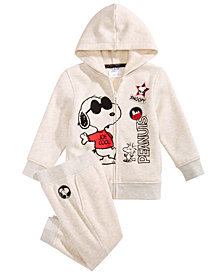 Peanuts Little Boys 2-Pc. Snoopy Sweatsuit