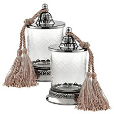 Jar With Tassel - Set of 2