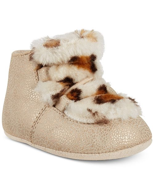 First Impressions Baby Girls Faux-Fur Chukka Boots, Created for Macy's