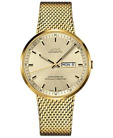 Men's Swiss Automatic Commander II Cosc Gold-Tone PVD Stainless Steel Bracelet Watch 42mm