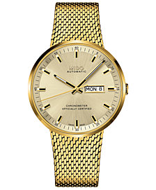 Mido Men's Swiss Automatic Commander II Cosc Gold-Tone PVD Stainless Steel Bracelet Watch 42mm