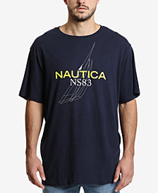 Nautica Men's Big & Tall J-Class Outline Graphic T-Shirt