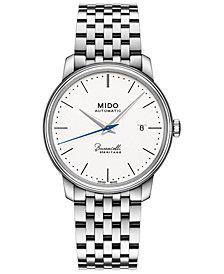 Mido Men's Swiss Automatic Baroncelli III Heritage Stainless Steel Bracelet Watch 39mm