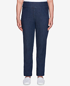 Alfred Dunner News Flash Stretch Denim Pants