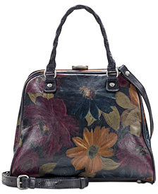 Patricia Nash Artesa Leather Frame Satchel