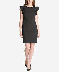 Tommy Hilfiger Flutter-Sleeve Shift Dress