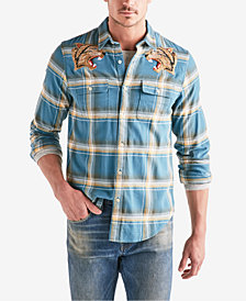Lucky Brand Men's Tiger Plaid Shirt