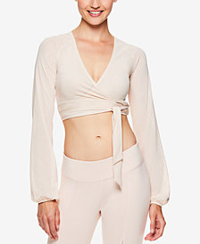 Gaiam by Jessica Biel Mesh Wrap Cropped Top