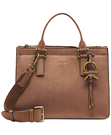 Calvin Klein Suede Leather Brynn Satchel