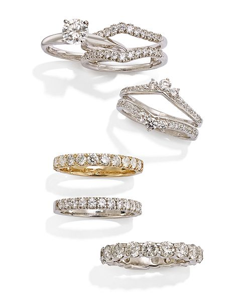 741d1e45e1f6 Macy s Pave Diamond Band Ring in 14k Gold