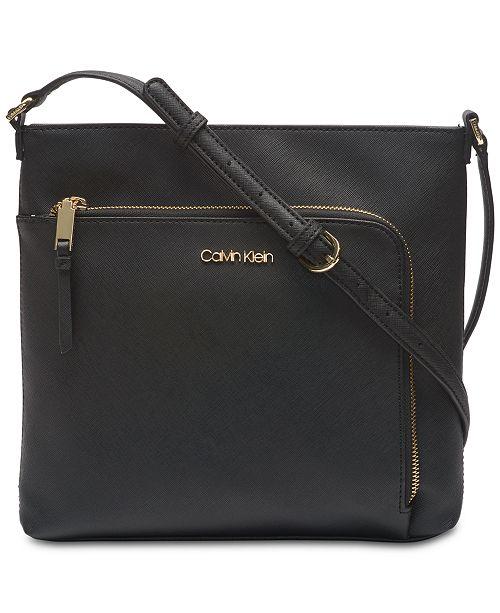 3fa74d946b Calvin Klein Hudson Saffiano Leather Crossbody   Reviews ...
