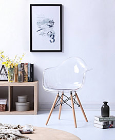 Modern Mid-Century Transparent Arm Dining Accent Chair