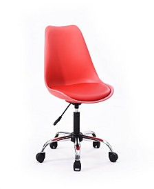 Armless Office Chair with Seat Cushion