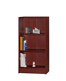 3-Shelf Bookcase in Mahogany